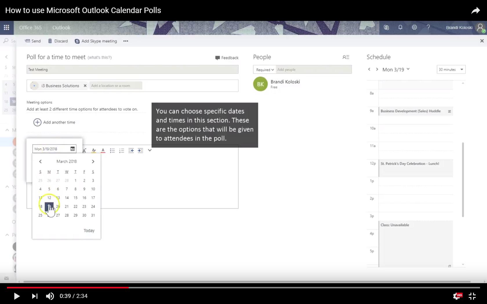 Microsoft Office 356: Outlook Calendar Polling