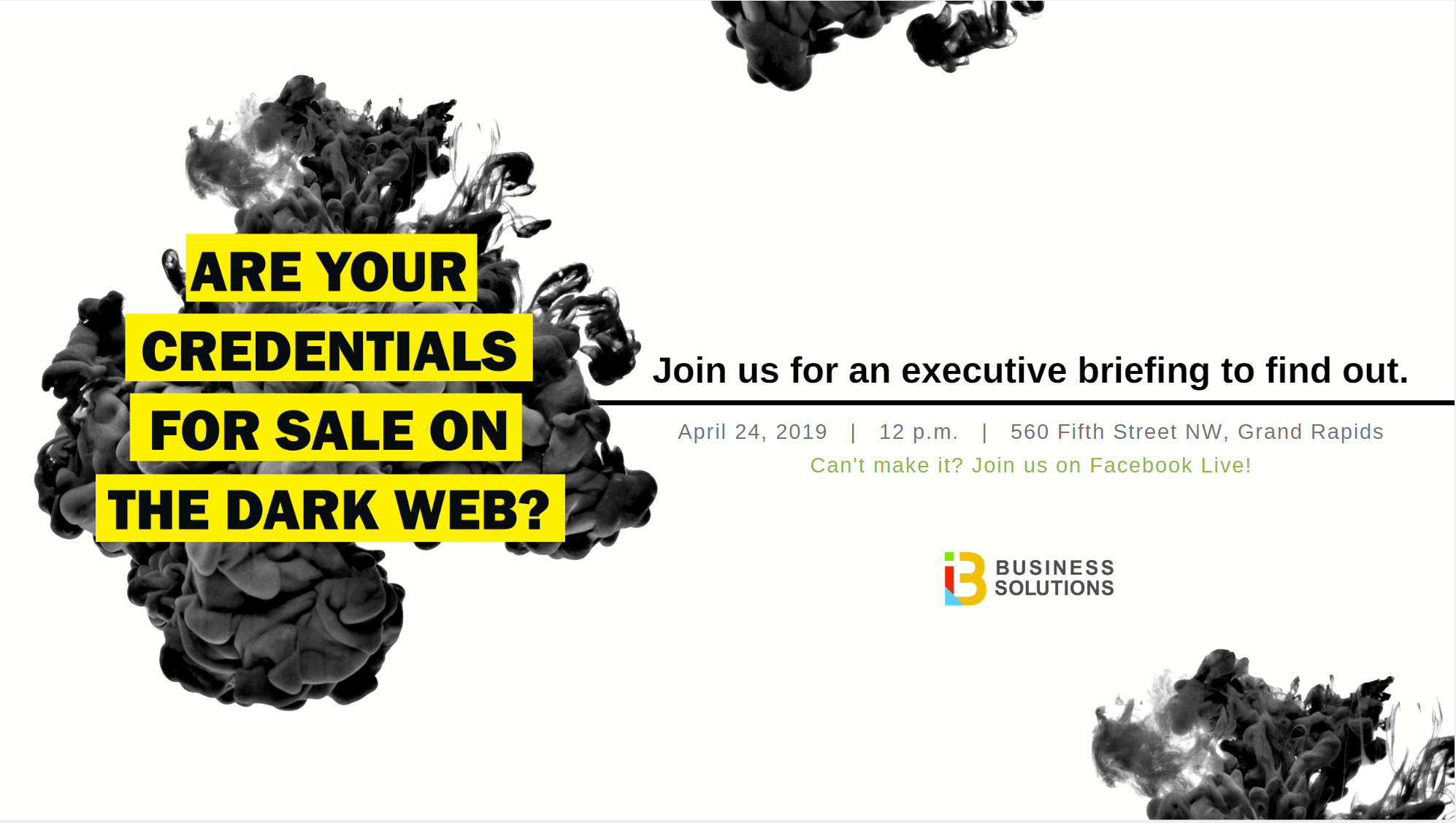 Executive Briefing on April 24: Are Your Credentials on the Web?